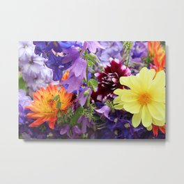 Profusion of Flower Friends By Mandy Ramsey Metal Print