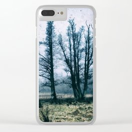 Bare Winter Trees Clear iPhone Case