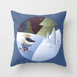 Magical Winter, Badger (R) Throw Pillow