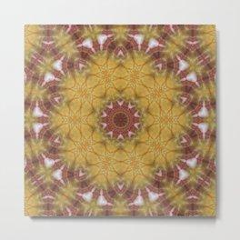 Sunny Kaleidoscope Metal Print