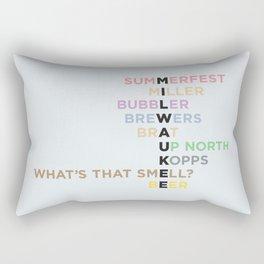 The Words of Milwaukee Rectangular Pillow