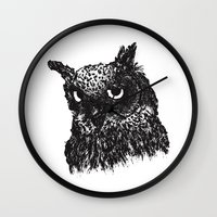 howl Wall Clocks featuring HOWL by Le Cabinet