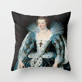 Royal Portrait Queen Anna Throw Pillow