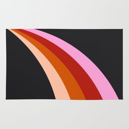 Retro Rainbow Stripes Rug