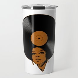 Afrovinyl (Brown) Travel Mug
