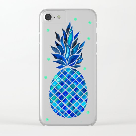 Maritime Pineapple Clear iPhone Case