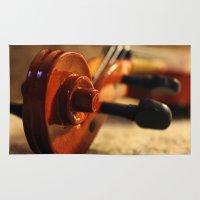 violin Area & Throw Rugs featuring Violin by Allan Delph
