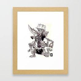 Edge of Being Framed Art Print