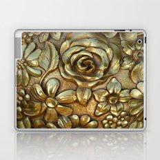 Golden Rose Pattern Art Laptop & iPad Skin