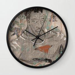 male body in robe gayart Wall Clock