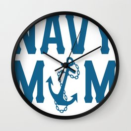 I'M A NAVY MOM Wall Clock