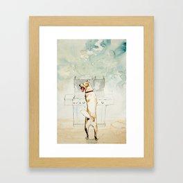 Kiss the Cook Framed Art Print