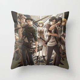 Attack on titan 3 Throw Pillow