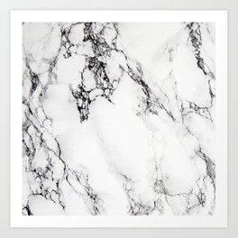 Classic white faux marble Art Print