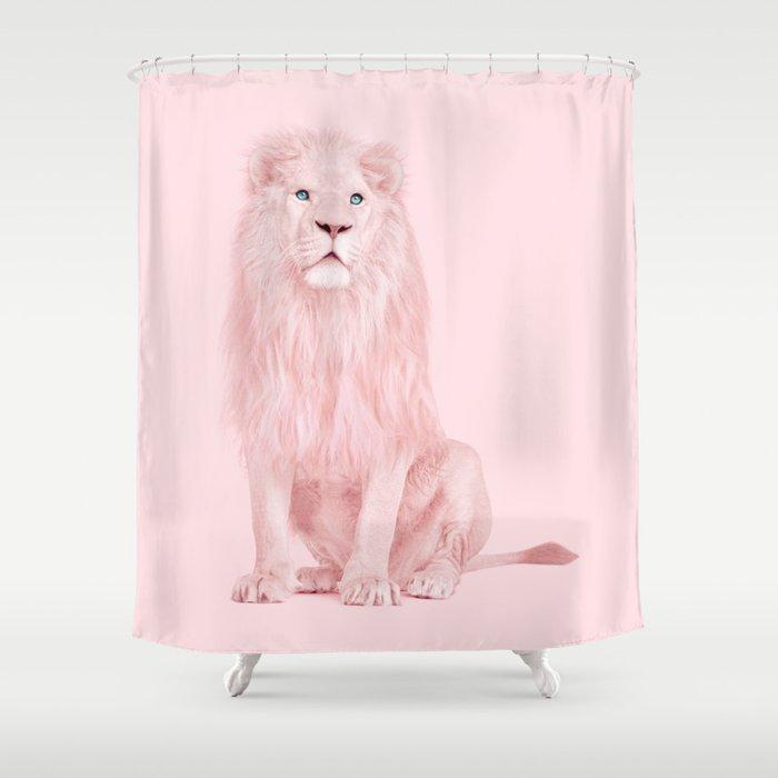 PINK LION Shower Curtain
