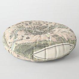 NOUVEAU PARIS MONUMENTAL Itinéraire pratique de l'étranger dans Paris Floor Pillow