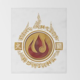Fire Nation Admiral Throw Blanket