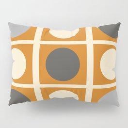 Minimal Abstract Vintage Cream Orange Grey 03 Pillow Sham