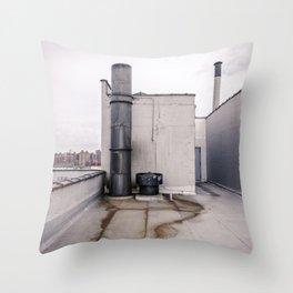 Smoke Stack and Rust Throw Pillow