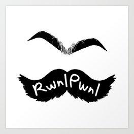 RwnlPwnl Mustache Art Print