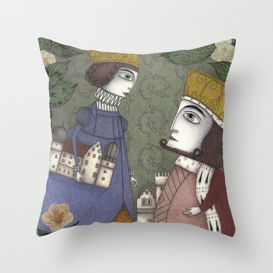 My Father, the King Throw Pillow