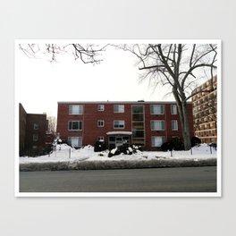 Mid-Twentieth Century Apartment in Hartford, CT Canvas Print