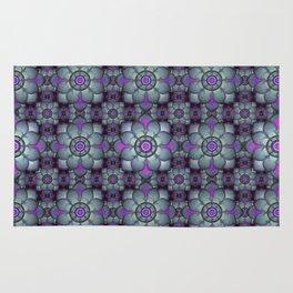 Bluish floral pattern Rug
