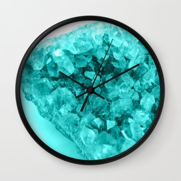 Aqua Ice Amethyst Wall Clock