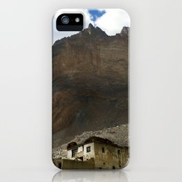 Under the shadows of the moutains iPhone Case