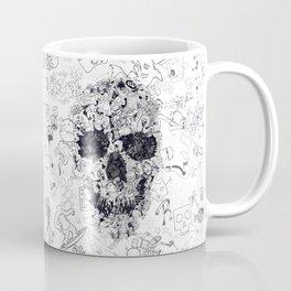 Doodle Skull BW Coffee Mug