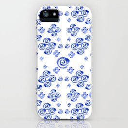 Moroccan Style in Blue iPhone Case