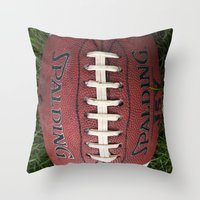 dragon ball Throw Pillows featuring Ball by eARTh