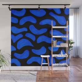 Peanut, Abstract, Electric Blue Wall Mural