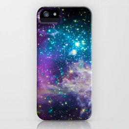 Colorful Sparkling Stars Nursery iPhone Case