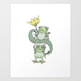 King Frog Art Print