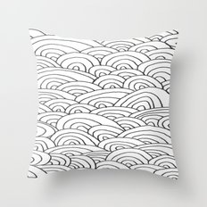 Sea of Lines 2 Throw Pillow