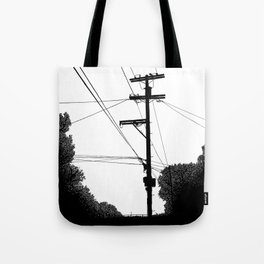 Power Lines at the bluff Tote Bag