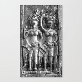 Cambodian Erotic Goddesses Canvas Print