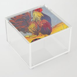 1981 Year of the Rooster Acrylic Box