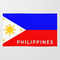 philippines Area & Throw Rugs featuring flag of Philippines by tony tudor