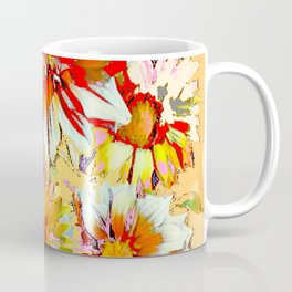 WHITE-RED FLOWER STILL LIFE CREAMY PASTELS Coffee Mug