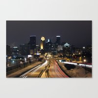 minneapolis Canvas Prints featuring Minneapolis by Julie Jo Pederson