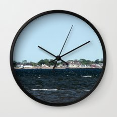Distant Town Wall Clock