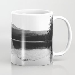 Wild Mountain Sunrise - Black and White Nature Photography Coffee Mug