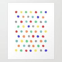 Watercolor dots Art Print