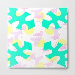 Flamingo vibrant motif Metal Print