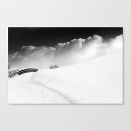 snow and cloud Canvas Print