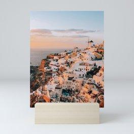 Set on You | Santorini, Greece Mini Art Print