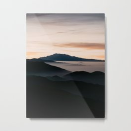 CLOUDY MOUNTAINS Metal Print