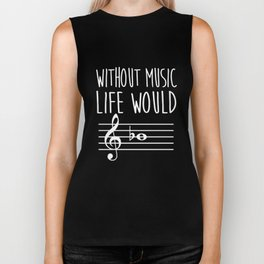 without music t-shirts Biker Tank